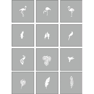 Air Nails Stencil Exotic Bird