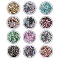 Crushed Metal Flakes 12 Colors