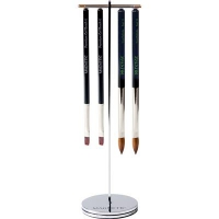 New Silver Click On Brush Stand
