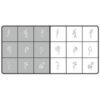 Airnails Stencil Silhouettes